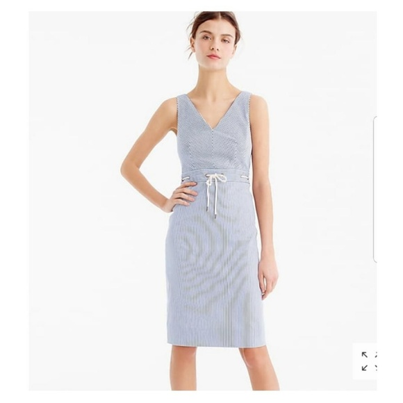 seersucker dress j crew
